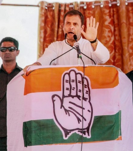 """""""We will not allow the formation of two Indias. If we have one flag, then we should have one nation. If Ambani gets justice, farmers should also get justice,"""" Gandhi said. PTI File photo"""