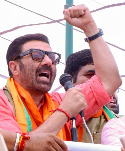 """I have come here to work and serve the people, I have come here to do my job. My job is to understand my people, my constituency,"" Deol said during his campaign trail here. PTI File photo"