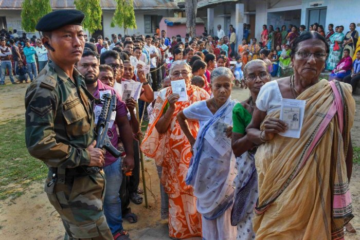 The Election Commission has ordered a repoll at 168 polling stations out of 1,679 polling stations in West Tripura Lok Sabha constituency, an election official said on Wednesday. PTI file photo