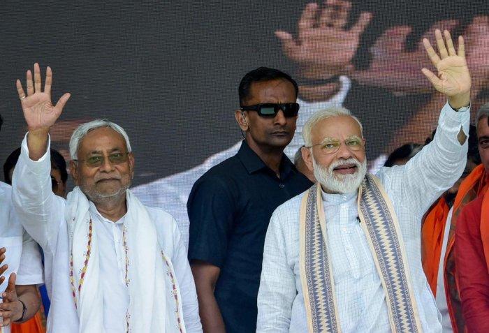 Prime Minister Narendra Modi and Bihar Chief Minister Nitish Kumar. PTI File photo