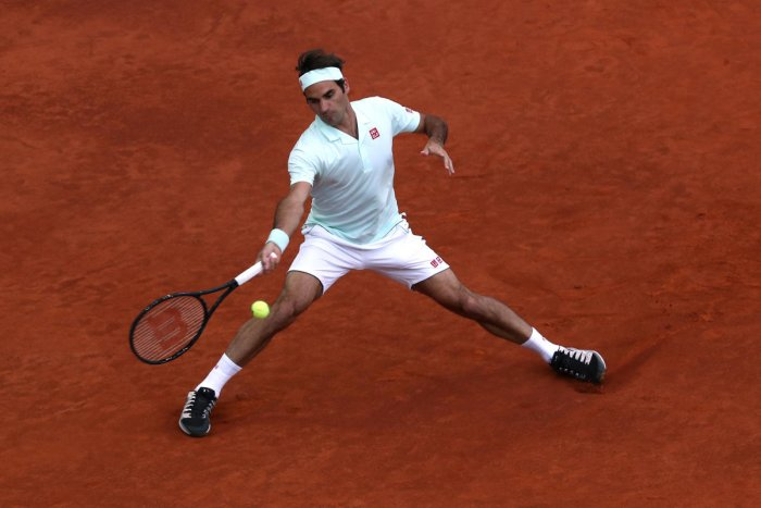 Switzerland's Roger Federer in action during his round of 32 match against France's Richard Gasquet. Reuters photo