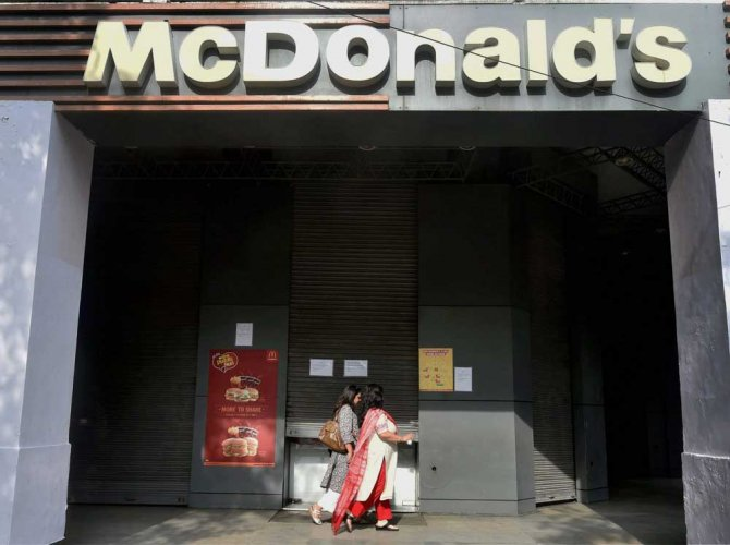 In August 2017, McDonald's had told the NCLAT that settlement of dispute with its estranged partner Bakshi was not possible.  PTI file photo