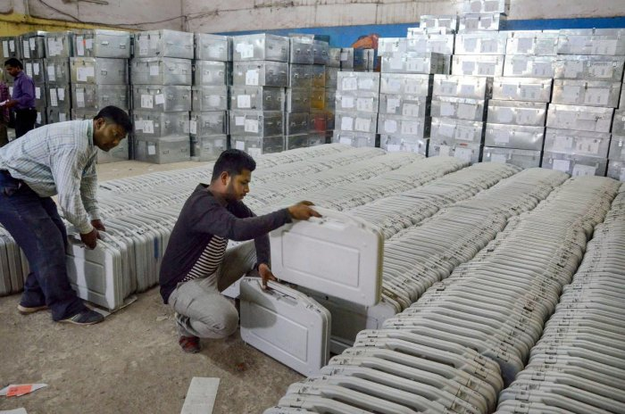 Apprehending damage from the rodents, Rashtriya Lok Dal's Mathura candidate Narendra Singh, about a week ago, demanded wire mesh fencing around the strongroom where the EVMs are stored. (PTI File Photo)