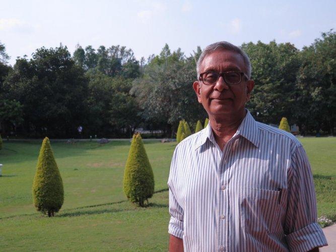 Professor Rajaram Nityananda at Infosys, Electronics City. DH PHOTO/AKHIL KADIDAL
