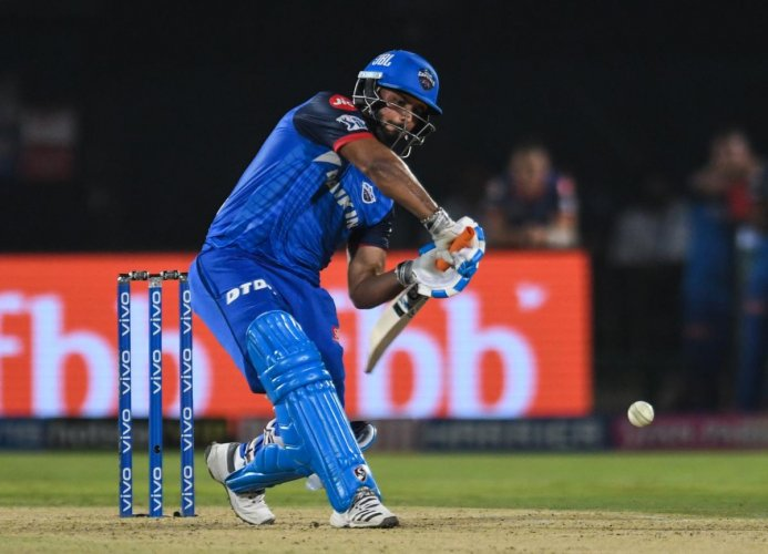 ON SONG: Delhi Capitals' Rishabh Pant said a positive mindset helped him play a crucial knock in his team's win over Sunrisers Hyderabad in Eliminator. AFP