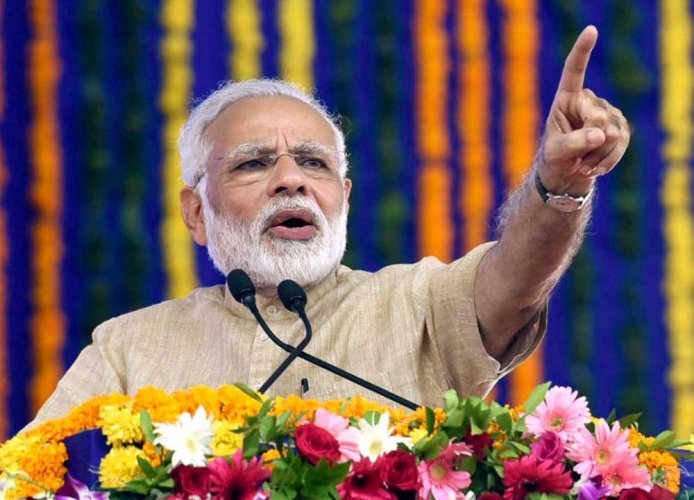Modi, who addressed three election rallies at Azamgarh, Jaunpur and Prayagraj on Thursday, would be addressing half a dozen election meetings at several LS constituencies in the regionin the next few days. (PTI File Photo)