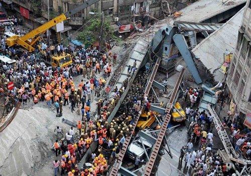 Kolkata flyover collapse-PTI