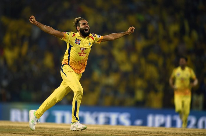 CSK's chances of winning the match will depend heavily on Imran Tahir's bowling performance. Picture credit: PTI