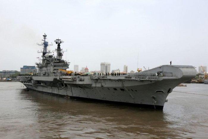 Addressing an election rally on Wednesday, Modi said the former prime minister used INS Viraat as a private taxi and his in-laws were onboard the aircraft carrier. (DH File Photo)