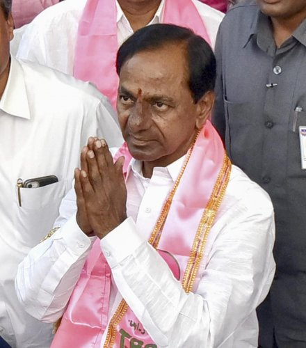 Telangana Rashtra Samithi (TRS) chief K Chandrasekhar Rao. PTI file photo