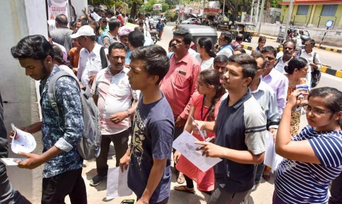 The government had already announced the test for the affected candidates, including over 500 students from various parts of North Karnataka, who missed NEET exam due to late arrival of Hampi express. DH file photo