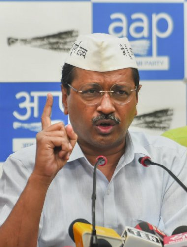 Delhi Chief Minister and Aam Aadmi Party (AAP) convenor Arvind Kejriwal. PTI file photo