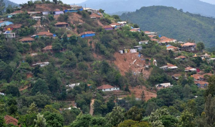 A view of Indira Nagar in Madikeri. DH photo