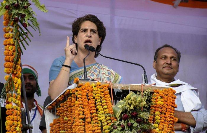 Congress General Secretary Priyanka Gandhi Vadra. PTI photo