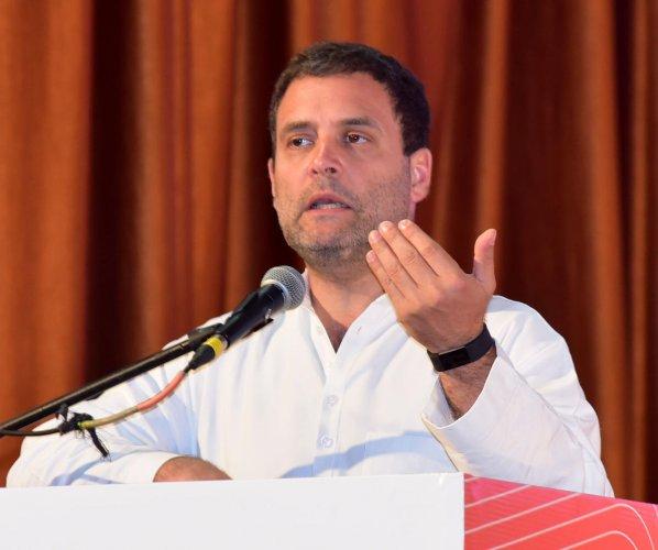 Congress President Rahul Gandhi. DH file photo