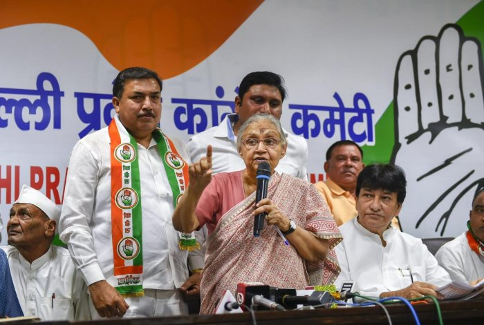The complaint was filed by Romila Dhawan, the election agent of the party's northeast Delhi candidate and former Delhi Chief Minister Sheila Dikshit. (PTI)
