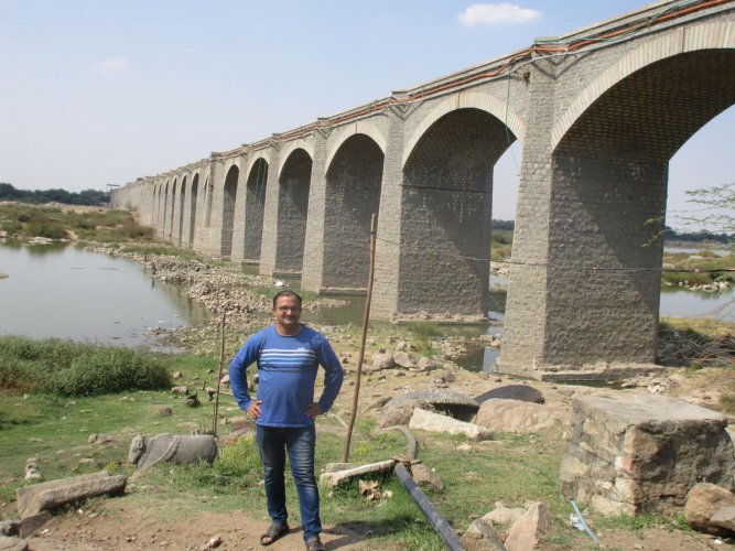 iconic: A view of Sirat-e-Judi bridge in Raichur district. photo by author
