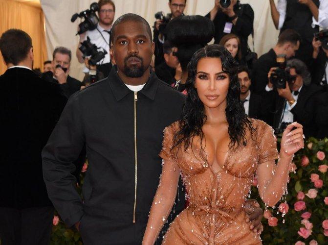 Kim Kardashian and Kanye West. AFP File photo