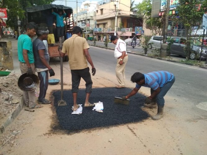 With most roads in the city dotted with potholes, the Bengaluru Traffic Police (BTP) conducted a potholes survey recently.