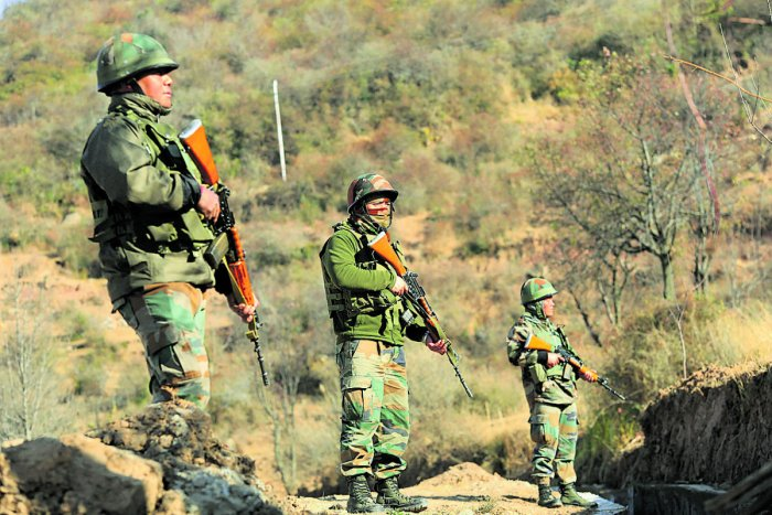 Sources said the UBGL went off accidentally in a forward post near the LoC in Machil sector, injuring Havaldar Jaipal Singh Tomar and Naik Vikram Mane of 56 Rashtriya Rifles. (PTI File Photo. For representation purpose)