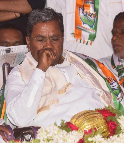 CLP leader Siddaramaiah