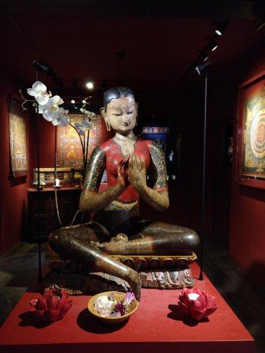 Statue of goddess Mahasri Tara in Tibet museum.