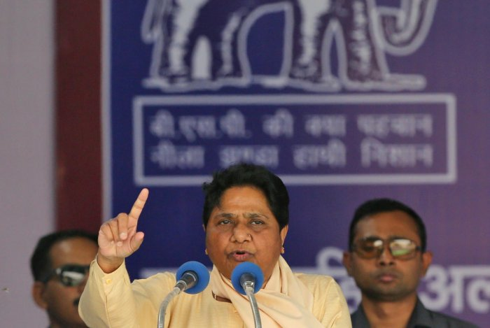 "Hours after the prime minister's remarks at election rallies in Kushinagar and Deoria earlier in the day, Mayawati said, ""In the wake of this incident, Modi is doing dirty politics."" (Reuters Photo)"