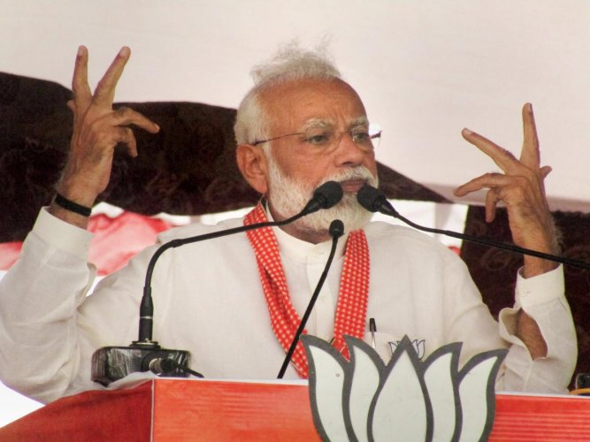Addressing election rallies in Kushinagar and Deoria Lok Sabha constituencies in Uttar Pradesh, Modi said that BSP supremo Mayawati was shedding ''crocodile tears'' on the gang-rape incident and dared her to withdraw support to the Congress government in