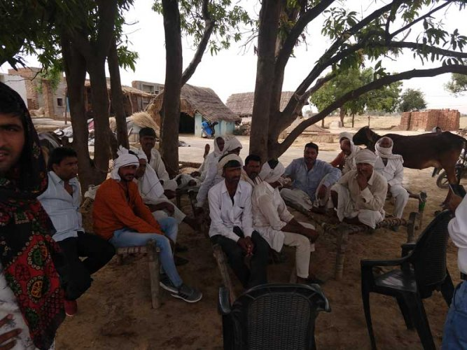 Gujjars in Morena in Chambal talk of Baba under whose influence they quit liquor consumption and follow austerity in marriage and death rituals. (DH Photo)