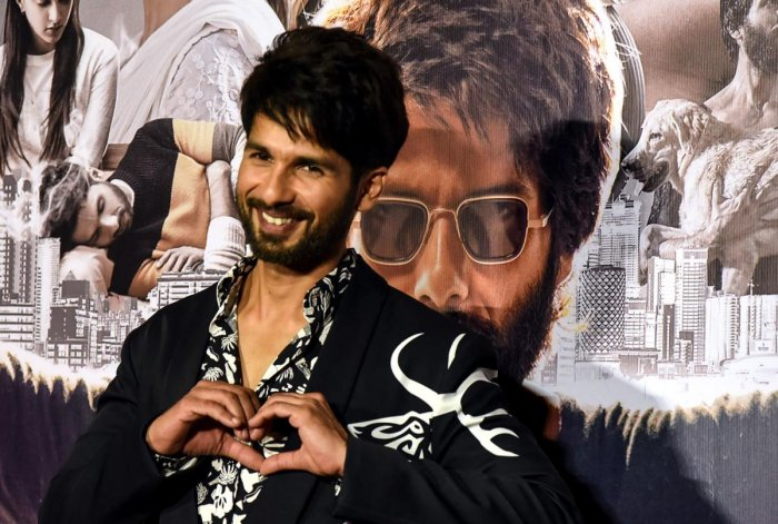 Bollywood actor Shahid Kapoor gestures as he poses for photographs during the trailer launch of the upcoming Hindi film 'Kabir Singh' in Mumbai on May 13, 2019. AFP photo