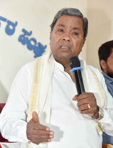 Congress leader Siddaramaiah. DH file photo