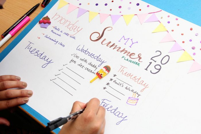 Create a summer planner along with your kids.