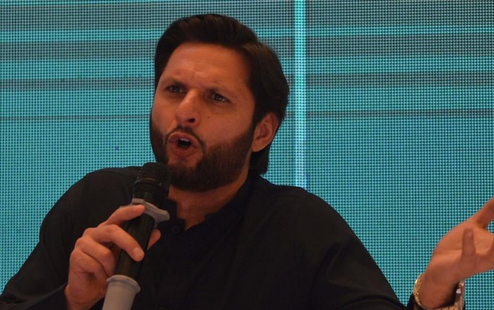"""It's for social and religious reasons that I've made this decision regarding my daughters not competing in public sporting activities and their mother agrees with me,"" wrote Afridi. AFP File photo"
