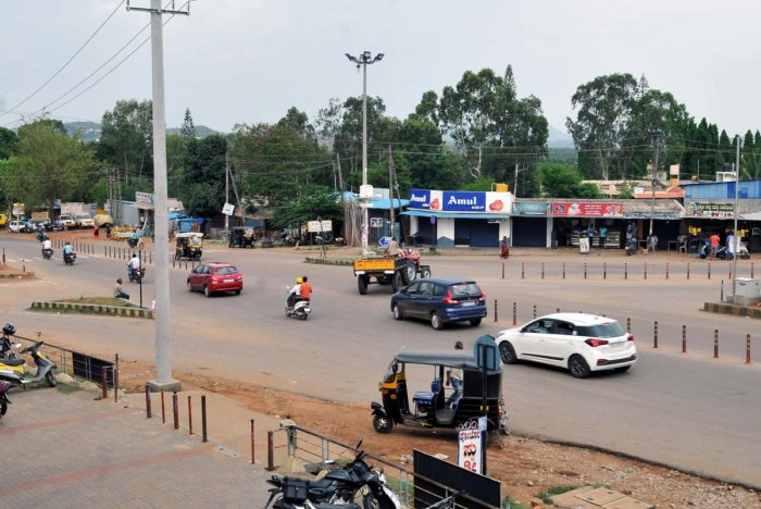 AIT Circle, one of the accident-prone areas identified in Chikkamagaluru.