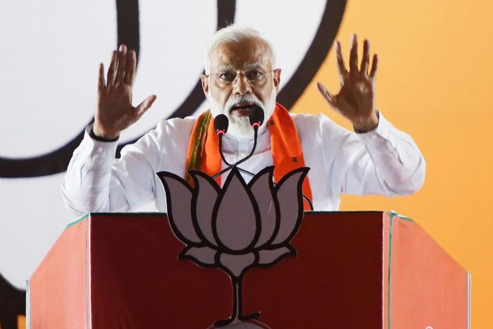 "Addressing a rally here, Modi also claimed that it was just the ""BJP-led NDA dispensation that could lead the nation towards light"". AFP File photo"