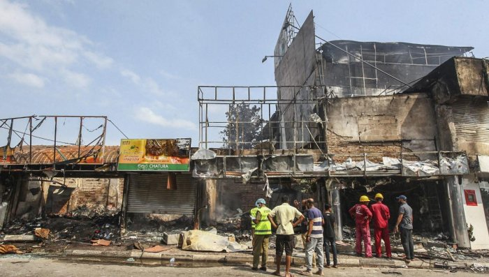 Mob attacks on Muslim communities in Sri Lanka's northwest have left one person dead and dozens of shops and mosques destroyed, a government minister said Tuesday, as communal violence worsened in the wake of Easter bombings that killed more than 250 peop