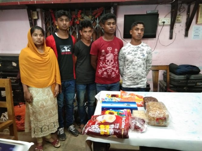 Five Rohingiyas were arrested on Tuesday morning minutes before they were about to catch a train from Guwahati for New Delhi.
