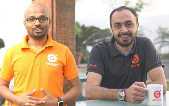 Grofers founders Saurabh Kumar (left) and Albinder Dhindsa
