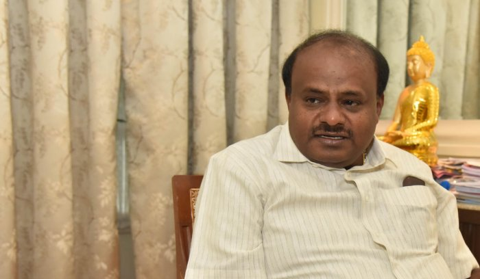 Addressing a meeting in Chincholi assembly segment for a by-election attended by Kharge on Tuesday, Kumaraswamy said the Congress leader should have become chief minister long ago. File photo