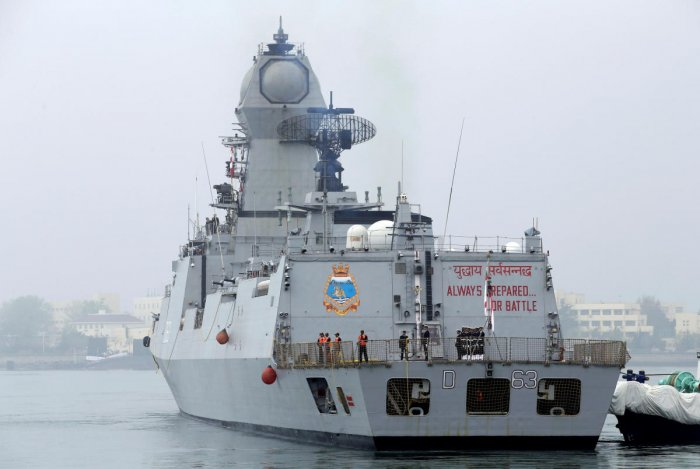An Indian navy commissioned warship INS Kolkata (Photo REUTERS)