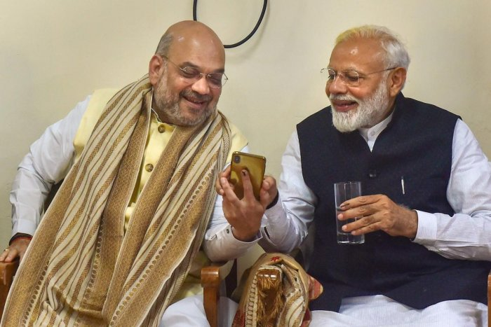 Prime Minister Narendra Modi and BJP National President Amit Shah. PTI File photo