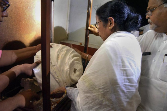 West Bengal Chief Minister Mamata Banerjee on Thursday launched a scathing attack on the BJP over the vandalising of Iswar Chandra Vidyasagar's statue during BJP president Amit Shah's roadshow in Kolkata. PTI file photo