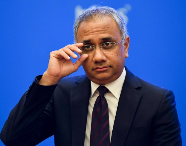 Salil Parekh, CEO, seen during the 3rd quarterly results at Infosys campus, in Bengaluru on Friday. File Photo/ B H Shivakumar