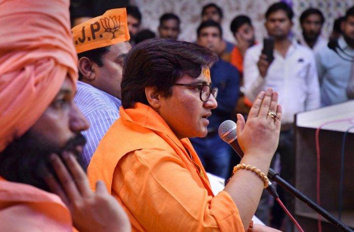 BJP candidate Sadhvi Pragya Singh Thakur. (PTI Photo)