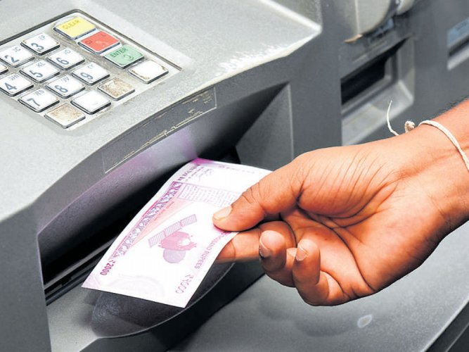 In total, during the past two financial years, the number of cash-dispensing machines in the country has come down by 6,158. File photo