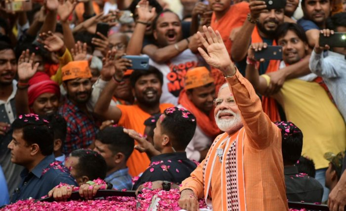 Modi, in his message to the electorate of Varanasi, and also in his election rallies, urged them to exercise their franchise in large numbers. (PTI)
