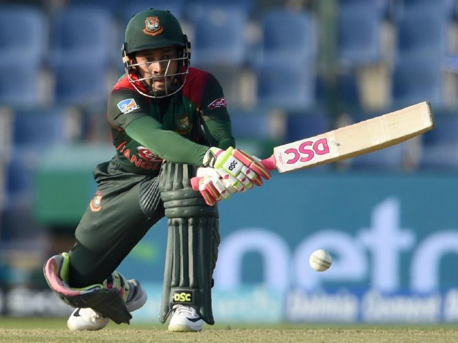 Bangladesh's Mushfiqur Rahim en route to his 99 on Wednesday. AFP