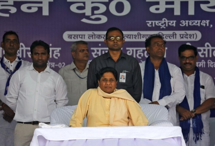 Bahujan Samaj Party (BSP) Chief Mayawati attends an election campaign (Photo REUTERS).