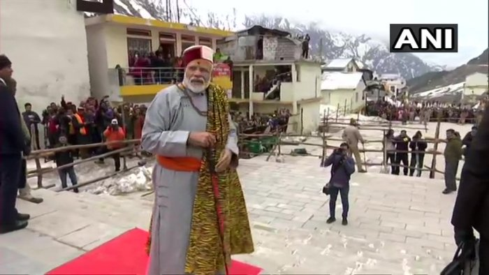 The prime minister's visit to Uttarkahand comes a day after campaigning for the general election came to a close. (ANI Photo)