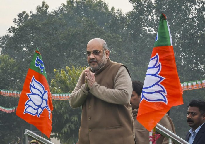 Shah, who is on Gujarat visit, was accompanied by his wife, a son, daughter-in-law and granddaughter. PTI File photo
